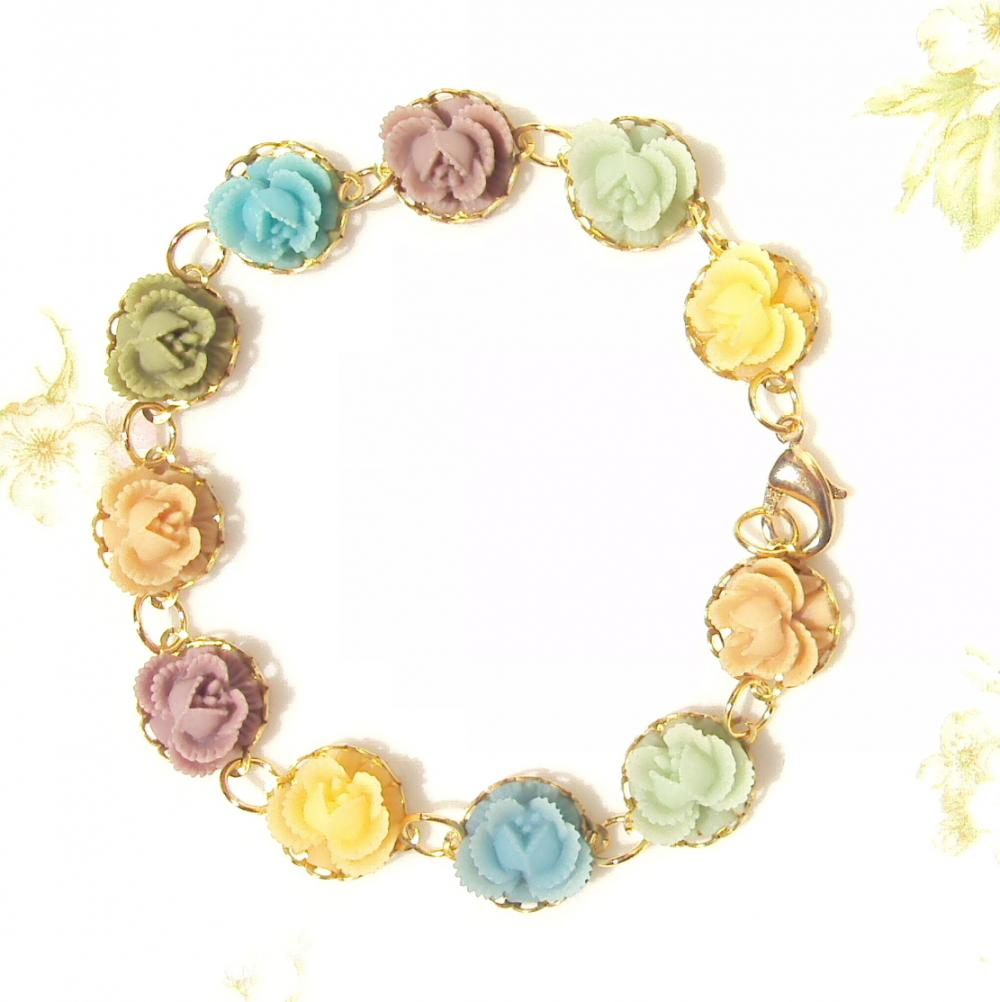 Bloom - Gold Flower Bracelet - Whimsy - Whimsical - Romance - Bridal