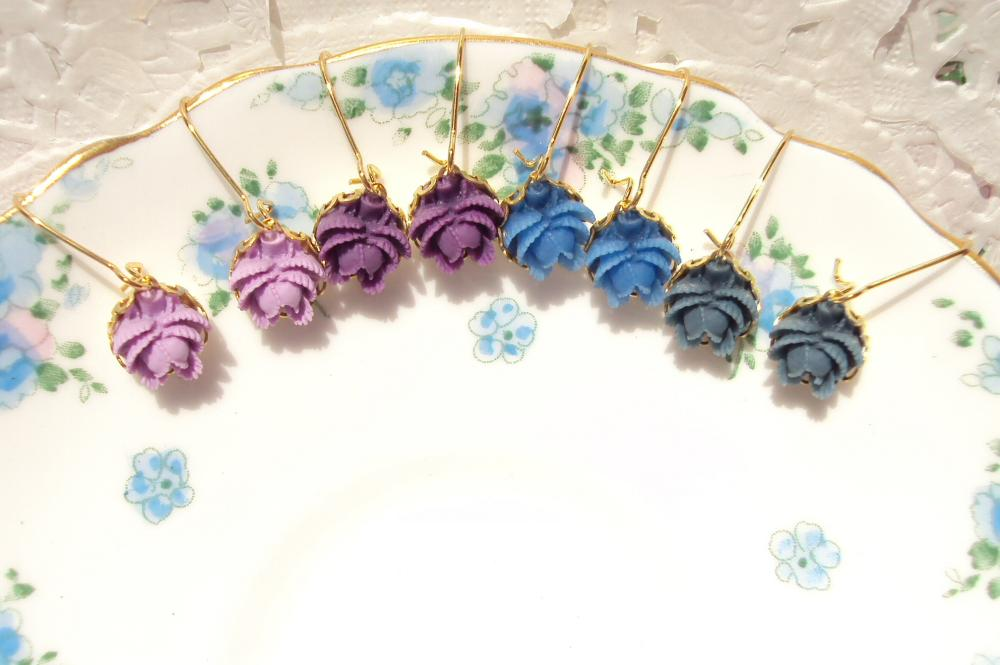 Bloom - Pick Your Color Flower Earrings - Whimsy - Whimsical - Romance - Bridal - Bridesmaid