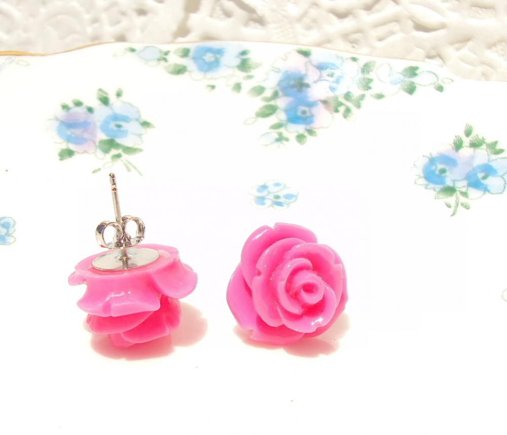 My Lovely Rosebud - Flower Stud Earrings